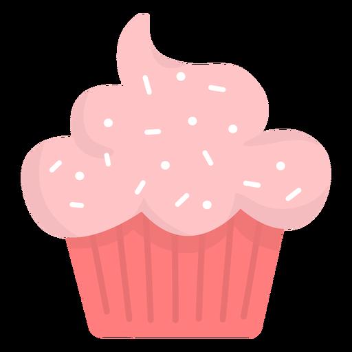 Cupcake sprinkles topping flat Transparent PNG