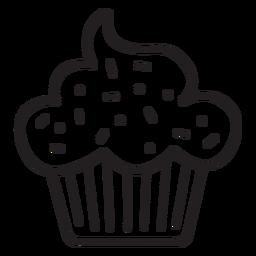 Cupcake sprinkles cloud topping stroke
