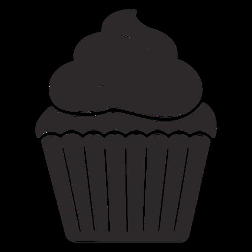 Cupcake sprinkles swirl topping
