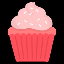 Cupcake sprinkles swirl topping flat