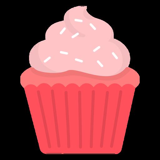 Cupcake sprinkles swirl topping flat Transparent PNG