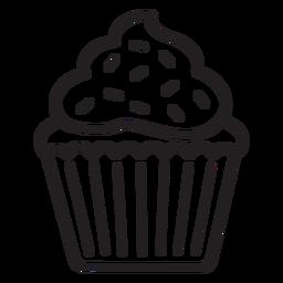 Cupcake sprinkles remolino topping trazo