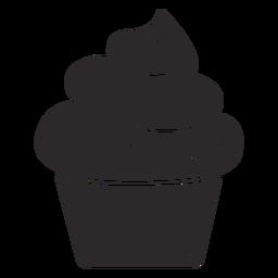 Cupcake espolvorea remolino con cobertura grande