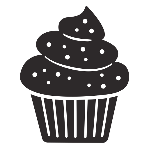 Cupcake sprinkles swirl topping large Transparent PNG
