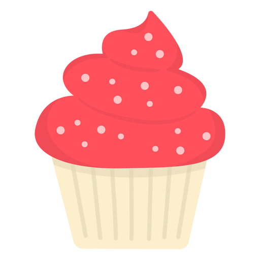 Cupcake sprinkles swirl topping large flat Transparent PNG