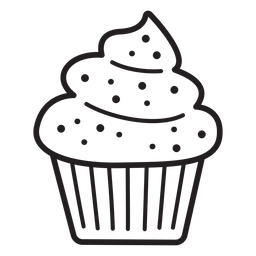 Cupcake espolvorea remolino coronando trazo grande