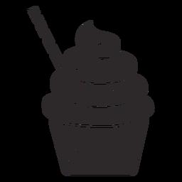 Cupcake rocía remolino rematando paja