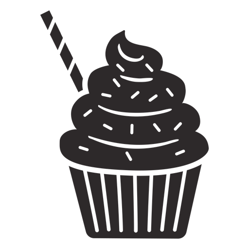 Cupcake sprinkles swirl topping straw Transparent PNG