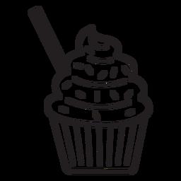 Cupcake sprinkles swirl topping straw stroke