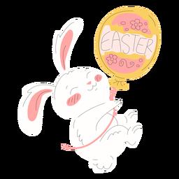Ilustración linda del globo de pascua del conejo