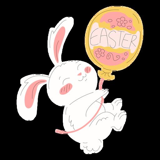 Cute rabbit easter balloon illustration