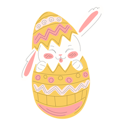 Cute rabbit easter egg illustration