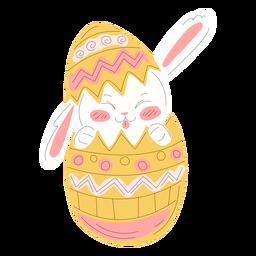 Ilustração de ovo de Páscoa bonito coelho