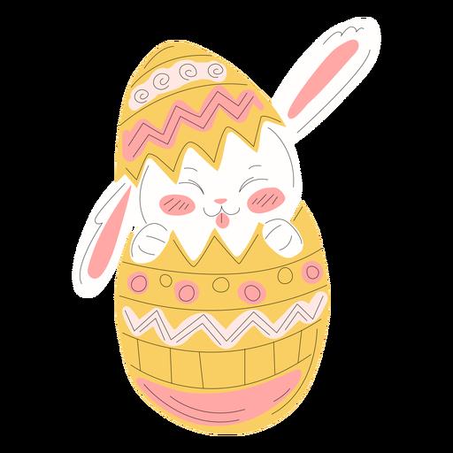 Ilustración de huevo de pascua lindo conejo