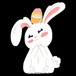 Lindo conejo pascua huevo arriba ilustración