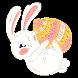 Lindo conejo de pascua ilustración juguetona