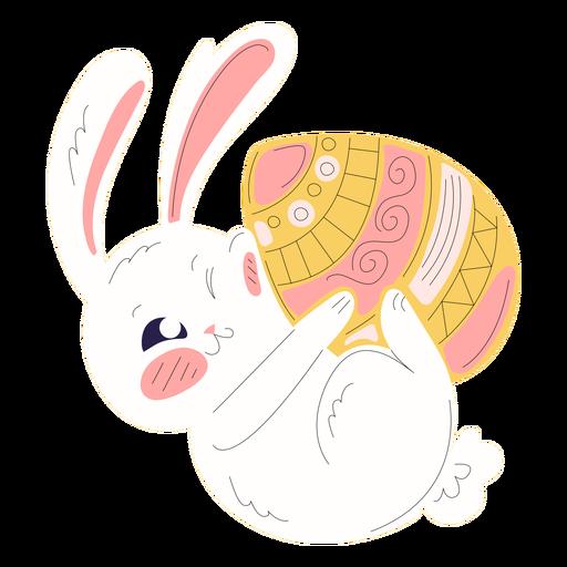 Cute rabbit easter playful illustration
