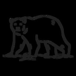 Doodle traço de urso