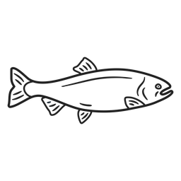 Doodle fish stroke