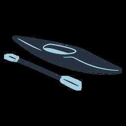 Ilustración de barco de kayak de Doodle