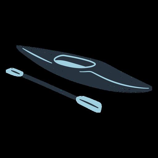 Ilustración de barco de kayak Doodle