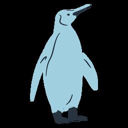 Doodle ilustração de pinguim