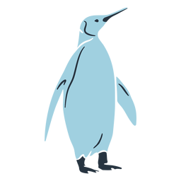 Doodle penguin illustration