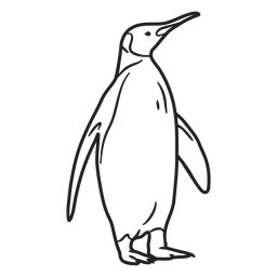 Doodle Pinguin Schlaganfall