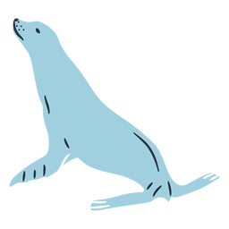 Doodle seal illustration
