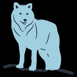 Doodle ilustración de lobo
