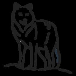 Doodle de trazo de lobo