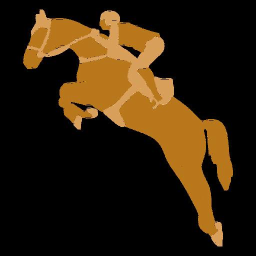 Equestrian jumping left