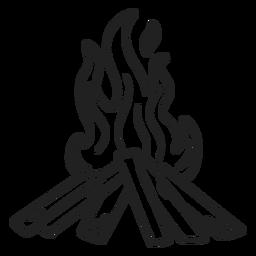 Doodle esquimal golpe de hoguera