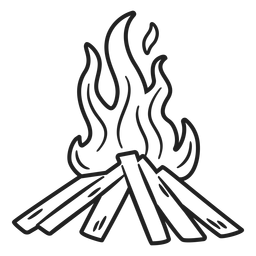 Esquimal doodle trazo de hoguera