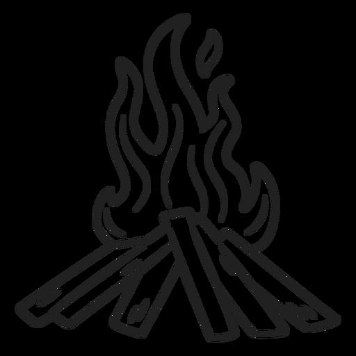 Eskimo doodle bonfire stroke