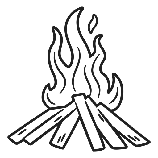 Esquimal doodle trazo de hoguera Transparent PNG