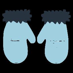 Ilustración de guantes de doodle esquimal
