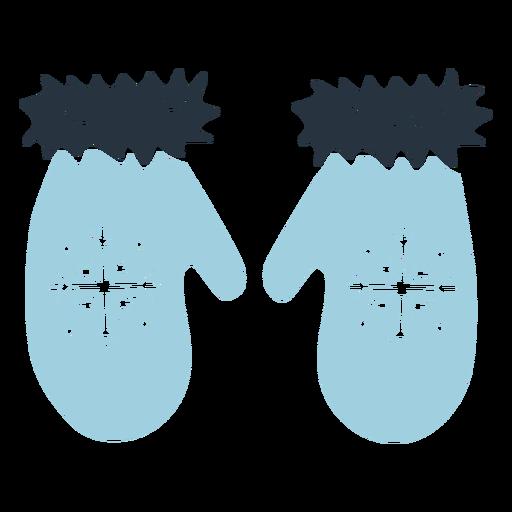 Ilustración de guantes de doodle esquimal Transparent PNG