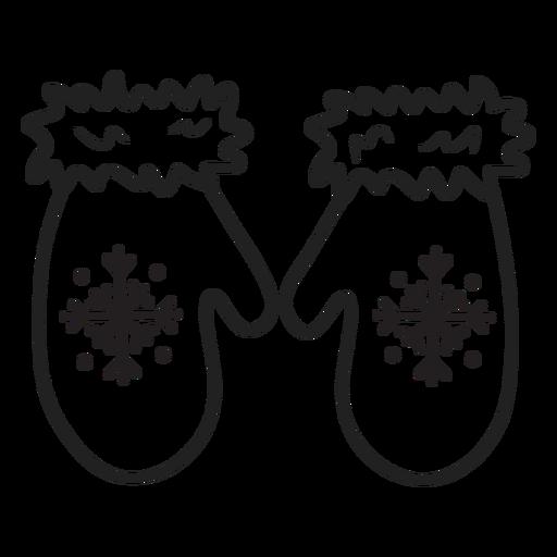 Eskimo Doodle Handschuhe streicheln Transparent PNG