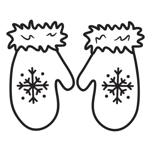 Trazo de guantes de doodle esquimal Transparent PNG