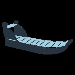 Eskimo doodle sled illustration