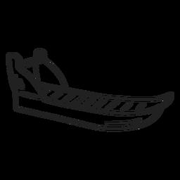 Trazo de trineo de doodle esquimal