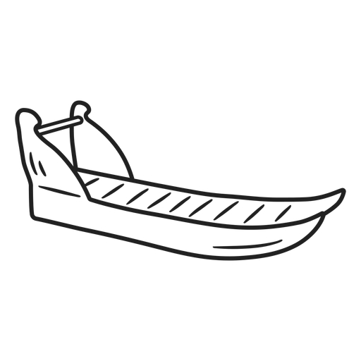 Trazo de trineo de doodle esquimal Transparent PNG
