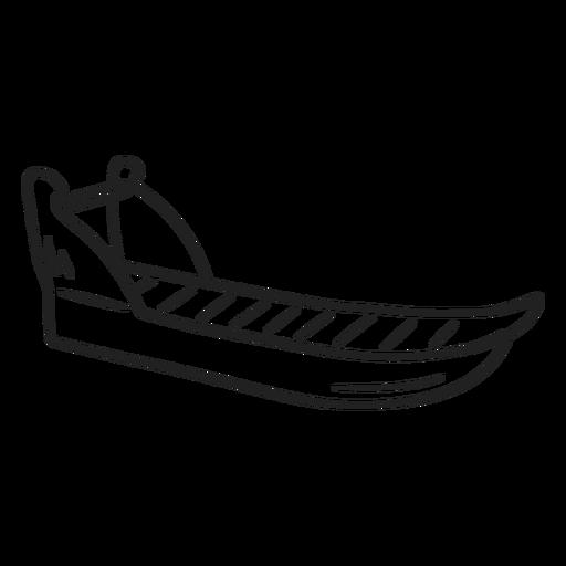 Trazo de trineo esquimal doodle Transparent PNG