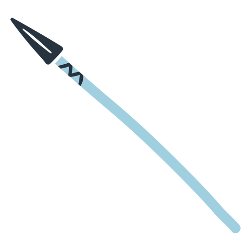 Ilustración de lanza de doodle esquimal Transparent PNG