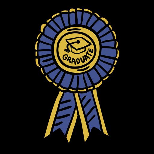 Dibujado a mano insignia de graduación