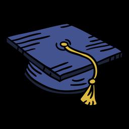 Graduación cap elemento dibujado a mano