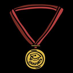 Medalla de graduación dibujada a mano