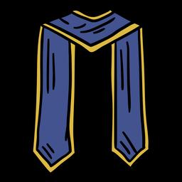 Bufanda de graduación dibujada a mano