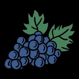 Manojo de uvas dibujado a mano